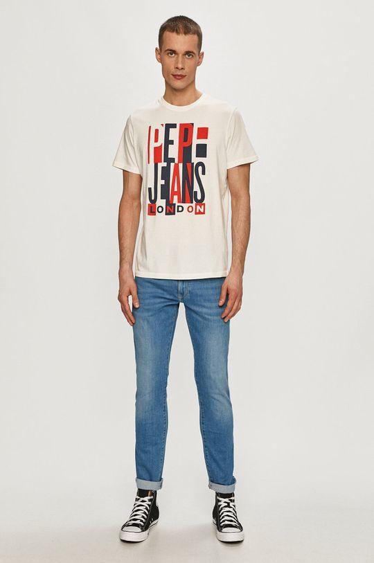 Pepe Jeans - Tričko Davy bílá