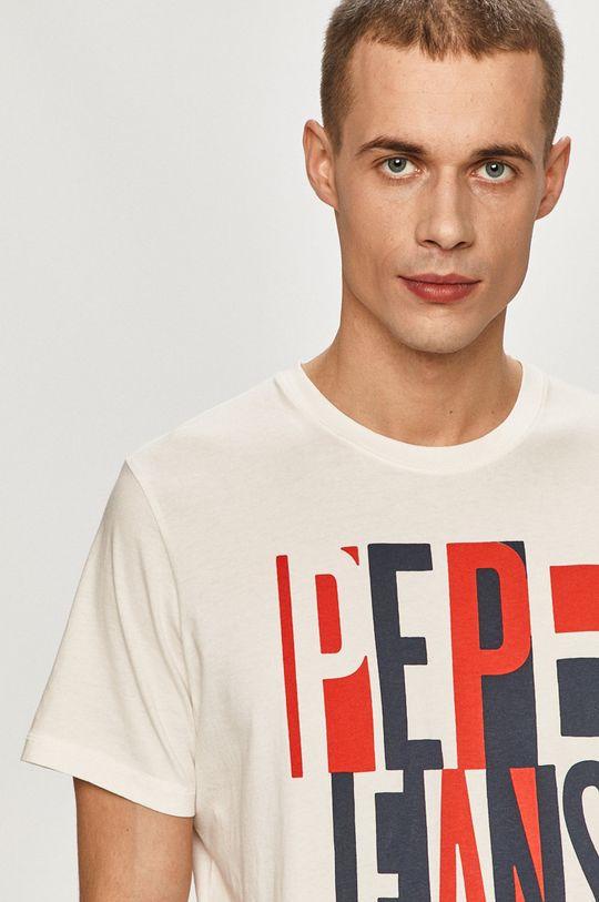 bílá Pepe Jeans - Tričko Davy