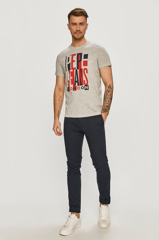 Pepe Jeans - T-shirt Davy szary
