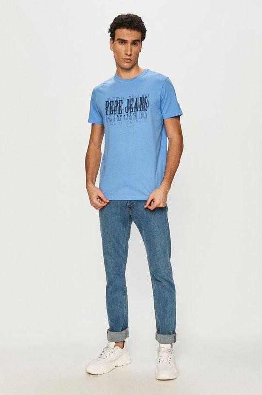 Pepe Jeans - T-shirt Snow niebieski