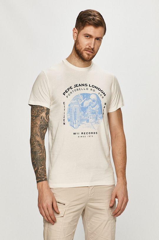 biały Pepe Jeans - T-shirt Damiel Męski