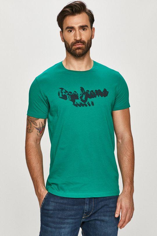 miętowy Pepe Jeans - T-shirt Anthony Męski