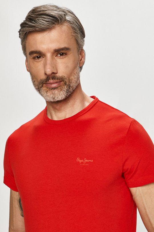 czerwony Pepe Jeans - T-shirt Basic Męski