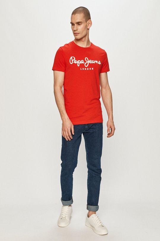 Pepe Jeans - T-shirt Original czerwony