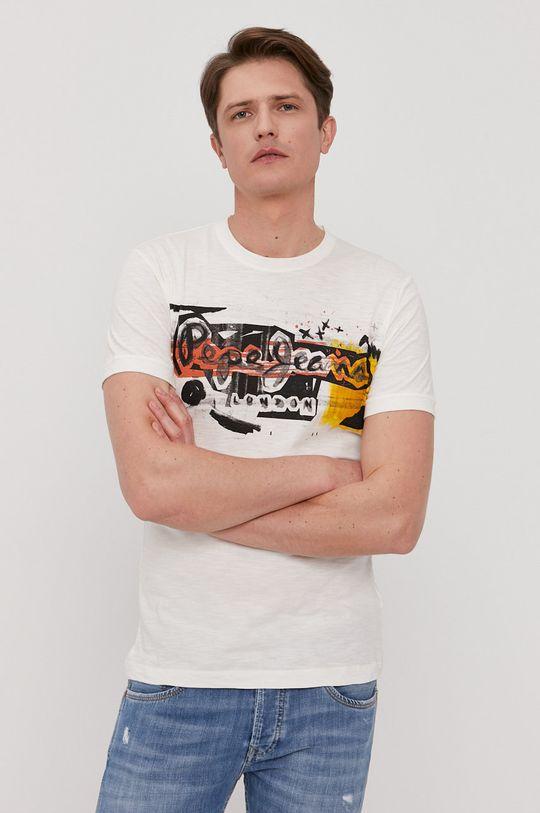 biały Pepe Jeans - T-shirt Amersham Męski