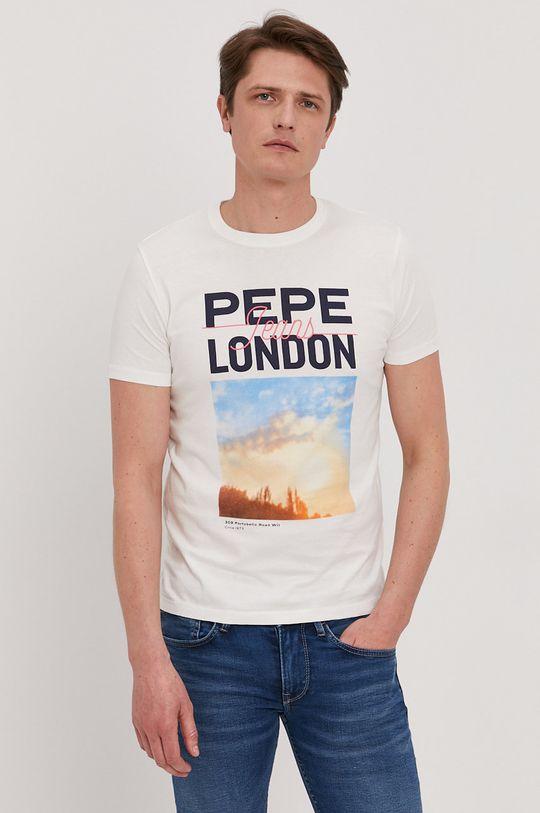Pepe Jeans - T-shirt Manu biały