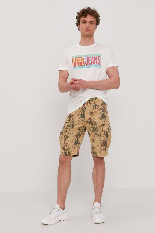 Pepe Jeans - T-shirt Mark biały