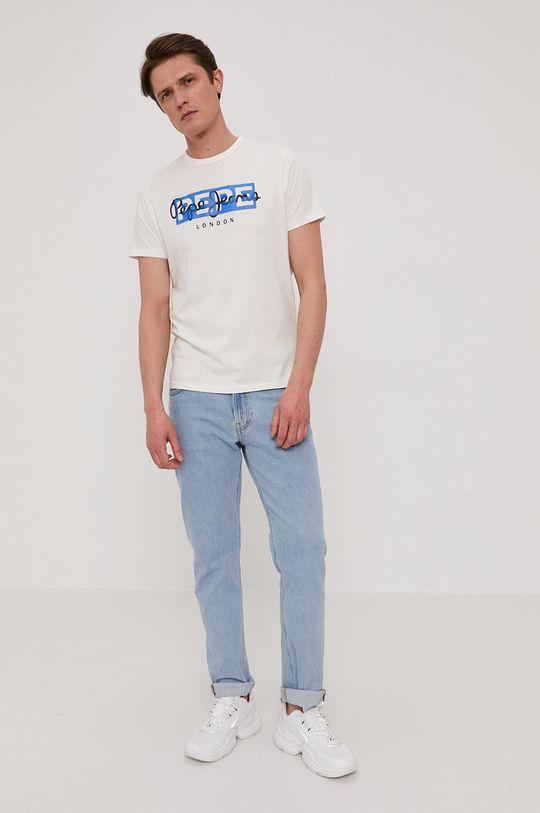 biały Pepe Jeans - T-shirt Godric Męski