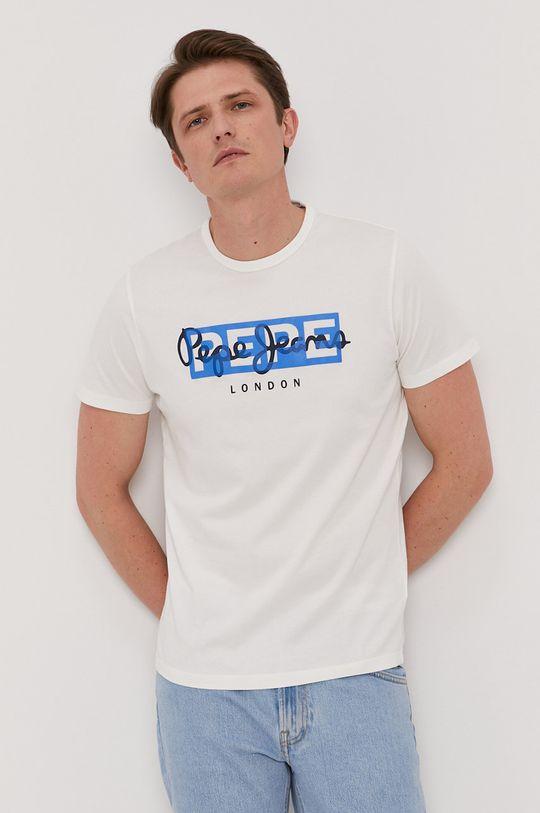 Pepe Jeans - T-shirt Godric biały