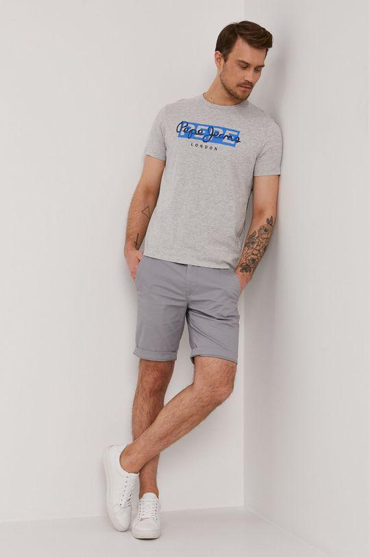 szary Pepe Jeans - T-shirt GODRIC Męski