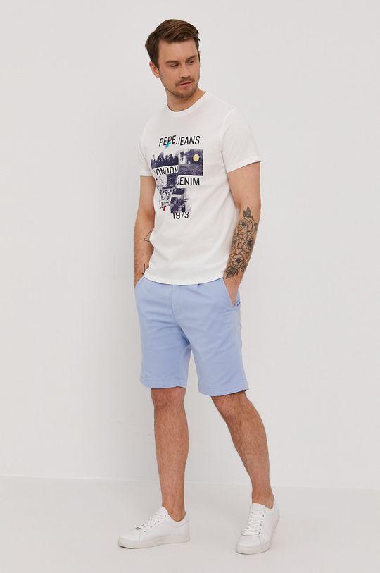 Pepe Jeans - T-shirt MILES biały