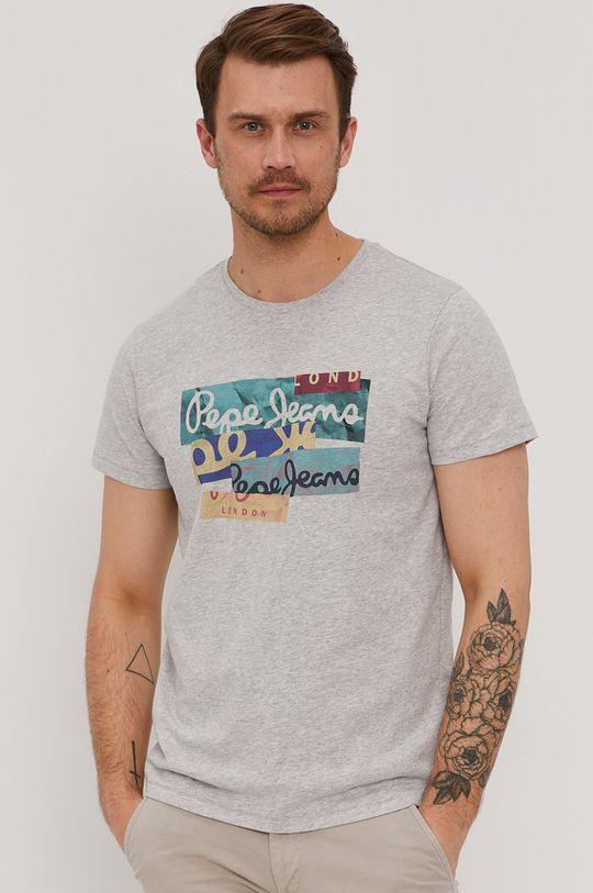 sivá Pepe Jeans - Tričko Mig Pánsky