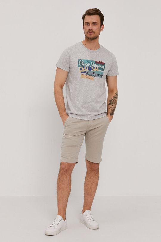 Pepe Jeans - Tričko Mig sivá