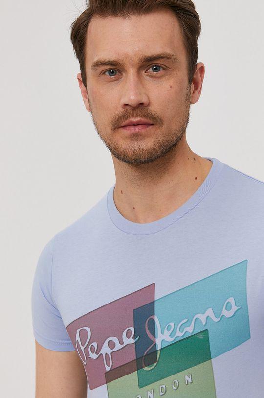 jasny niebieski Pepe Jeans - T-shirt Morrison Męski