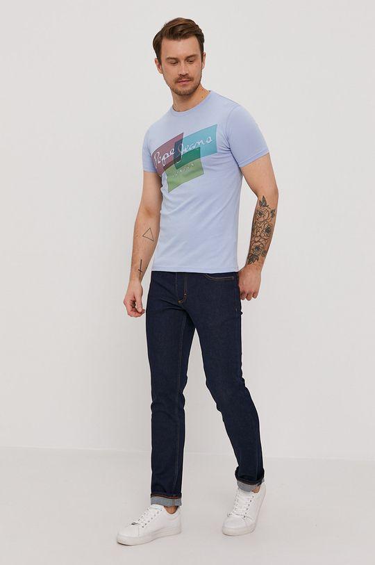 Pepe Jeans - T-shirt Morrison jasny niebieski