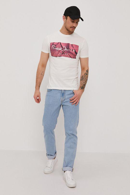 Pepe Jeans - T-shirt Raury ostry różowy