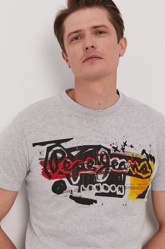 szary Pepe Jeans - T-shirt Amersham