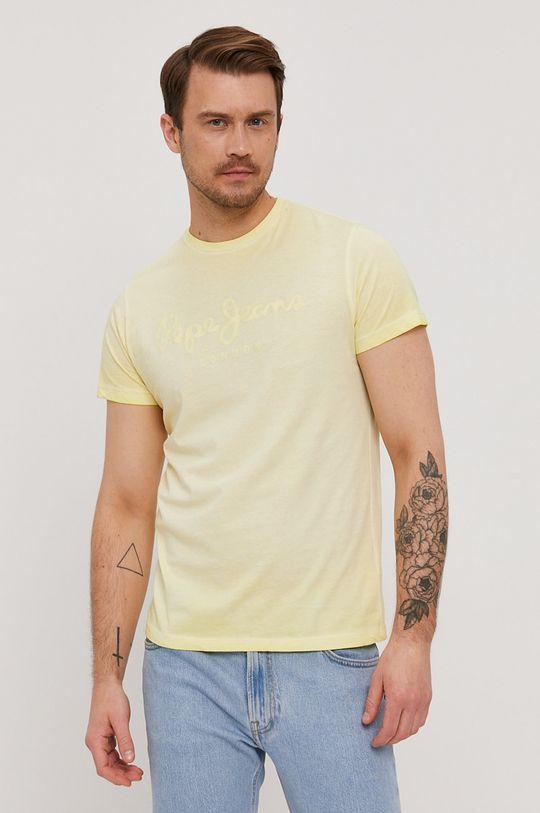 żółty Pepe Jeans - T-shirt West Męski