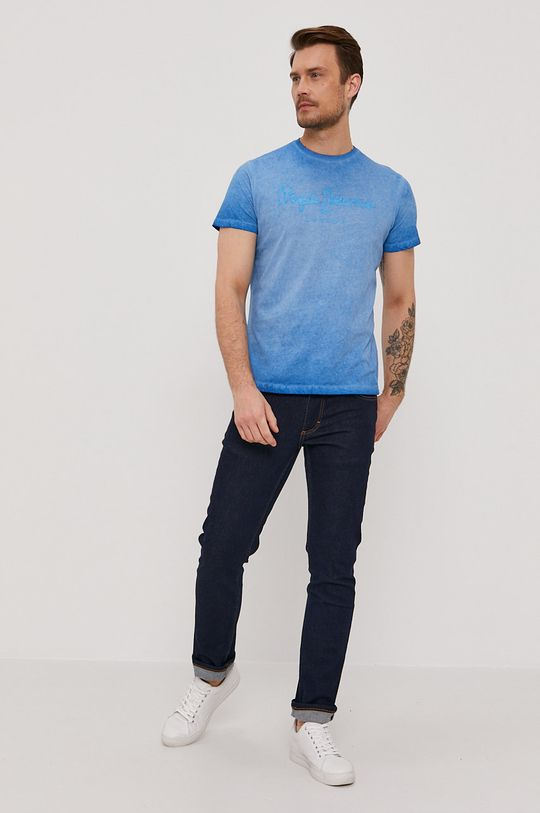 Pepe Jeans - T-shirt West niebieski