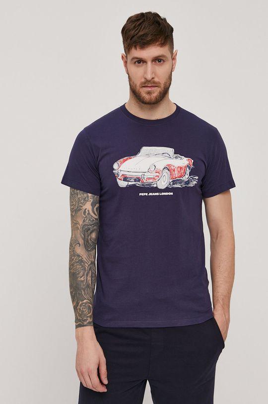 granatowy Pepe Jeans - T-shirt Gary Męski