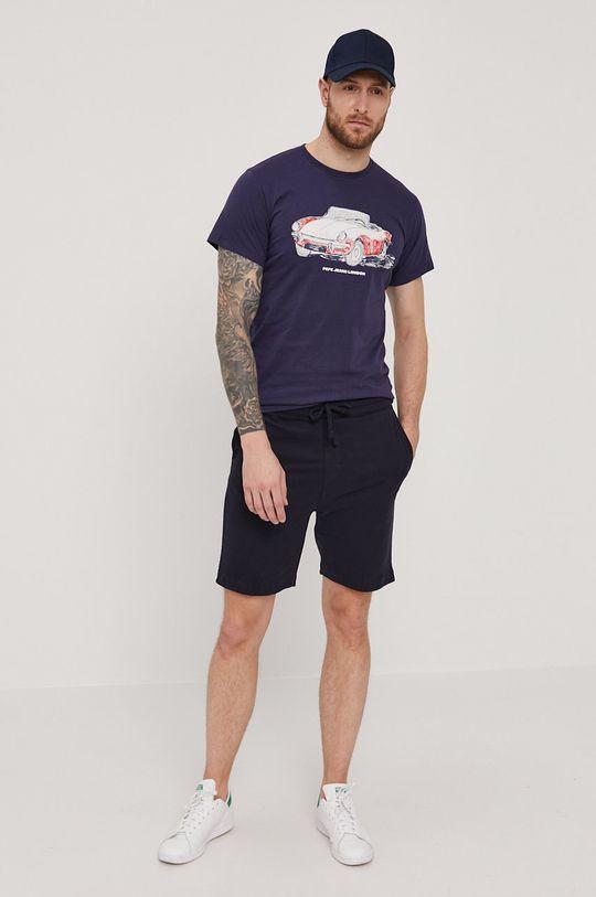 Pepe Jeans - T-shirt Gary granatowy