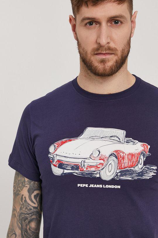 granatowy Pepe Jeans - T-shirt Gary