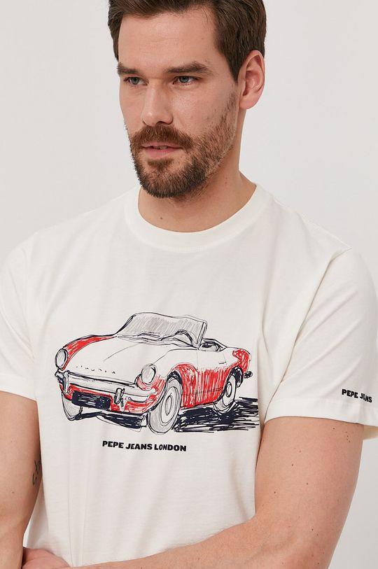 bílá Pepe Jeans - Tričko Gary