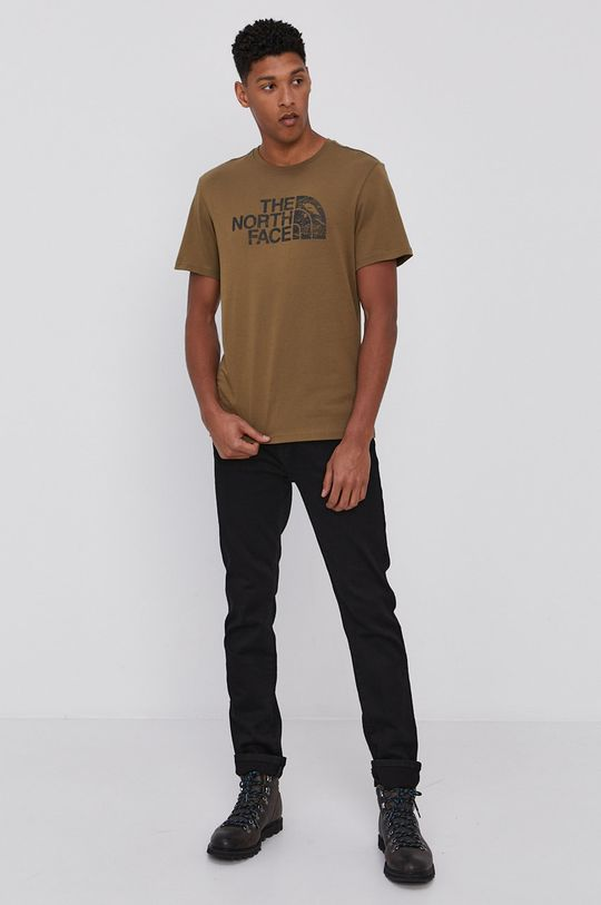 The North Face - T-shirt brudny zielony