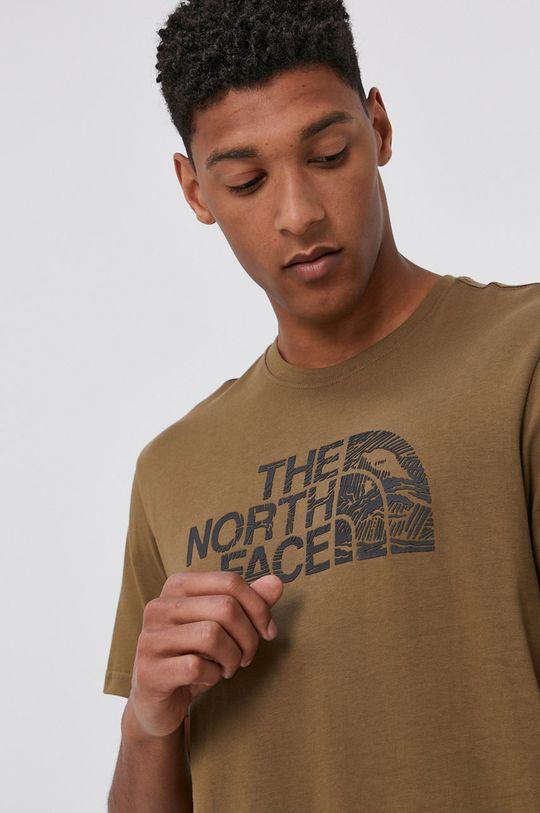 brudny zielony The North Face - T-shirt