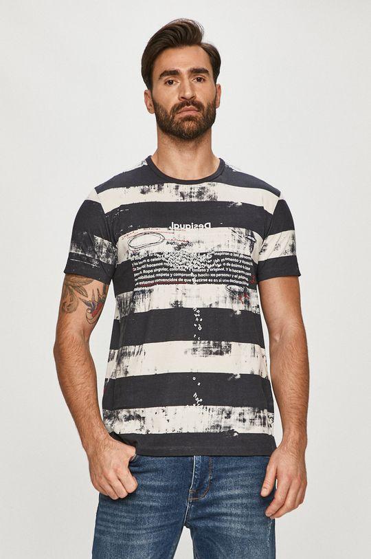 vícebarevná Desigual - Tričko Pánský