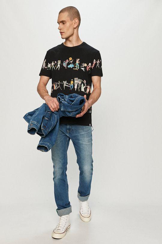 czarny Desigual - T-shirt Męski