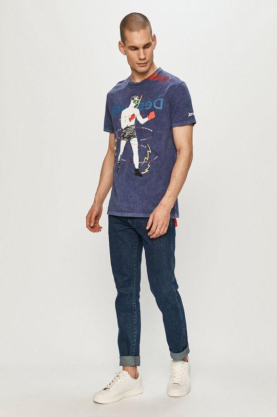 Desigual - T-shirt granatowy