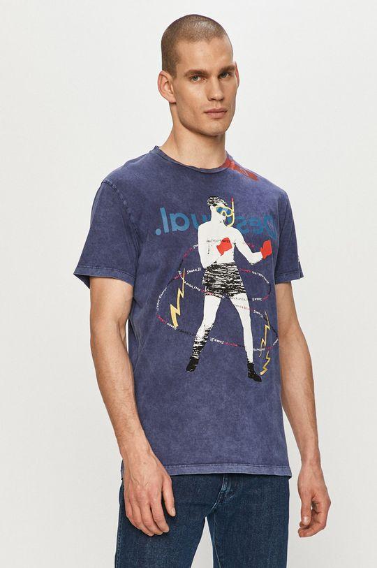 granatowy Desigual - T-shirt