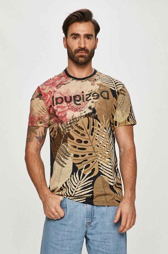 béžová Desigual - Tričko Pánský