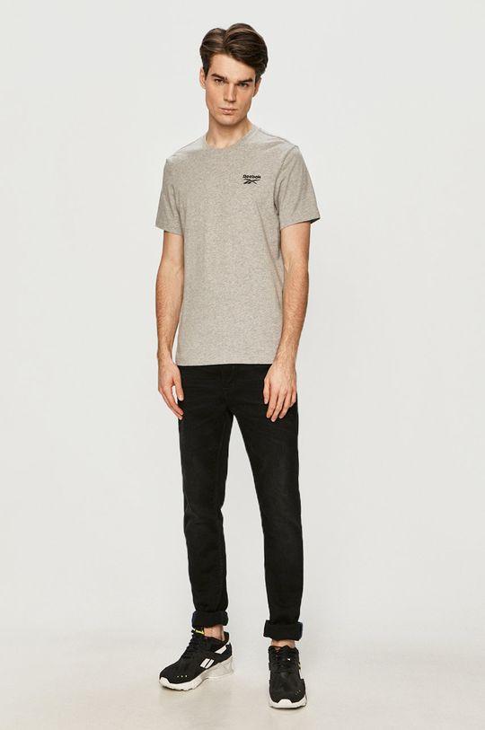 Reebok - T-shirt szary