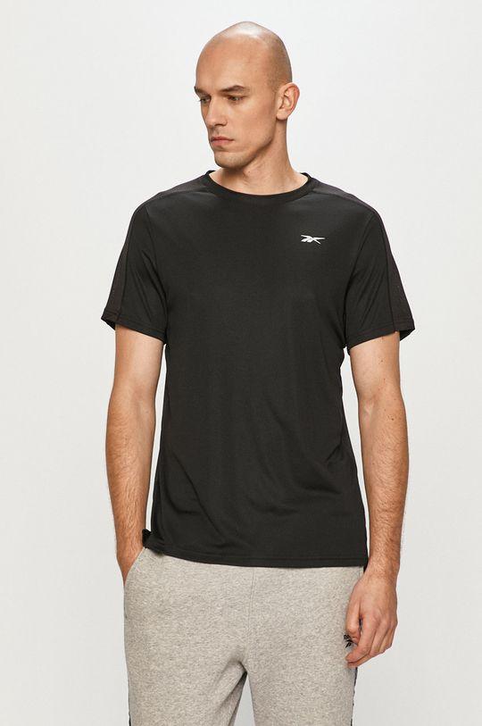 czarny Reebok - T-shirt Męski