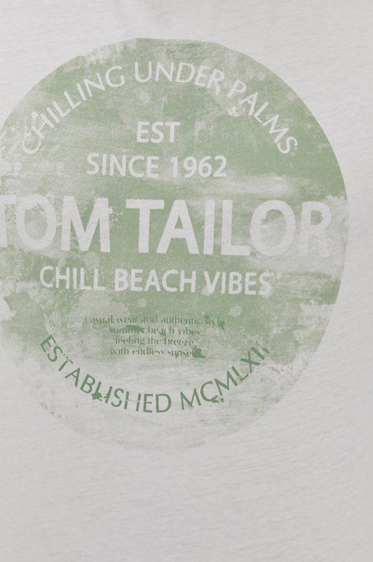 alb Tom Tailor - Tricou