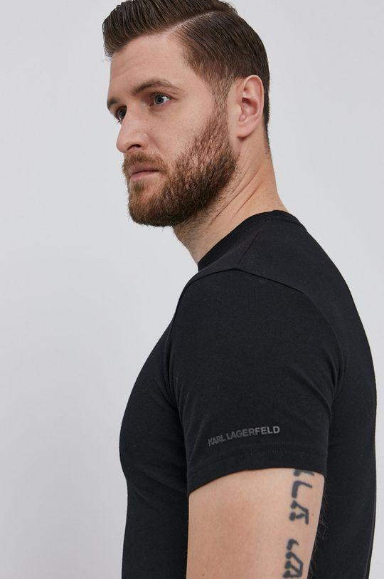 čierna Karl Lagerfeld - Tričko (2-pack) Pánsky