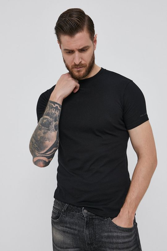 čierna Karl Lagerfeld - Tričko (2-pack)