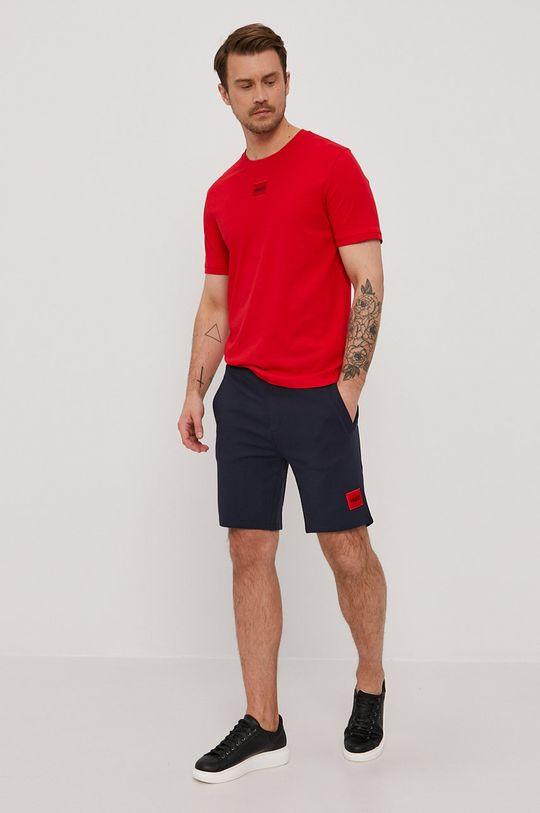 Hugo - T-shirt czerwony