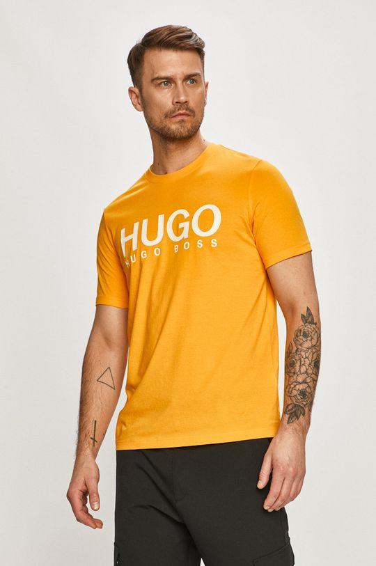 oranžová Hugo - Tričko Pánský