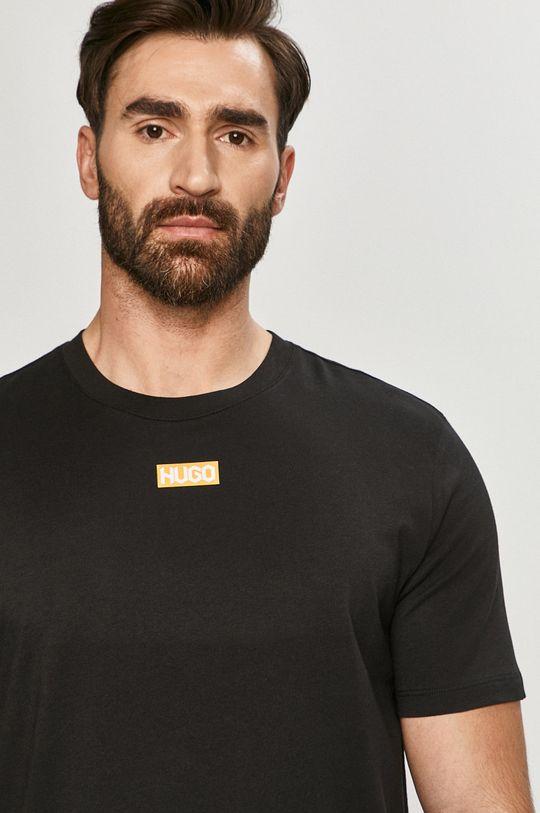 czarny Hugo - T-shirt Męski