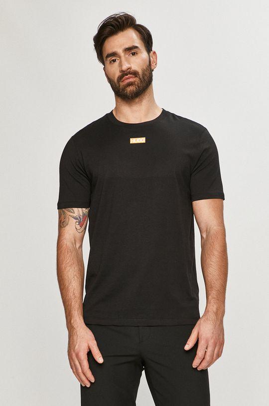 czarny Hugo - T-shirt