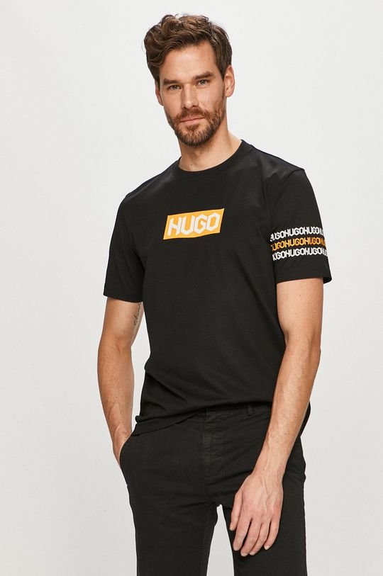 negru Hugo - Tricou De bărbați