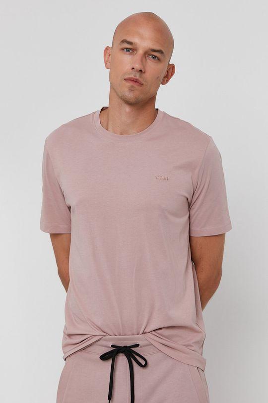 pastelová ružová Hugo - Tričko Pánsky