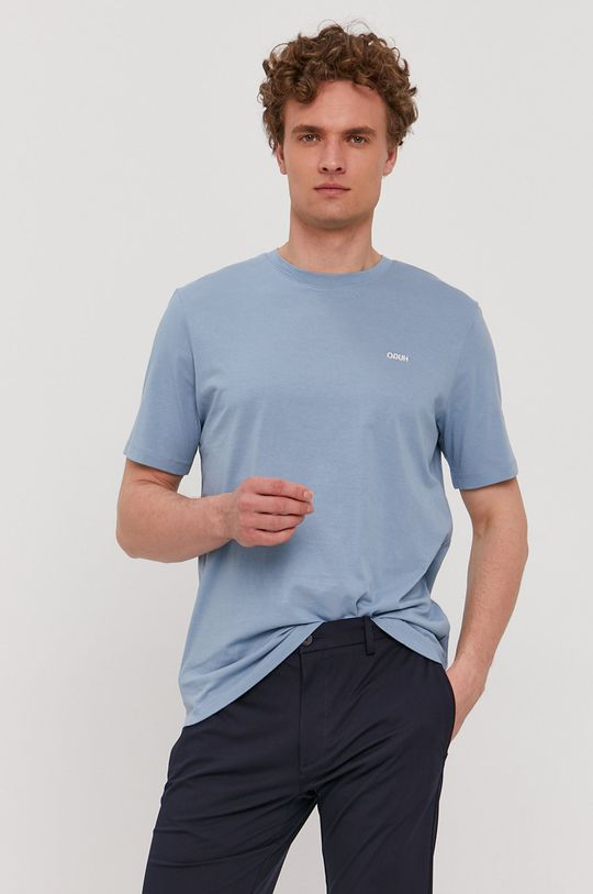 jasny niebieski Hugo - T-shirt Męski