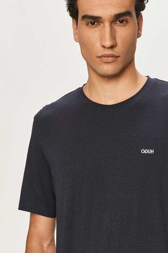 granatowy Hugo - T-shirt Męski