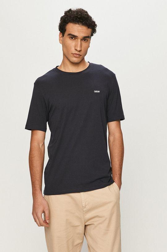 granatowy Hugo - T-shirt