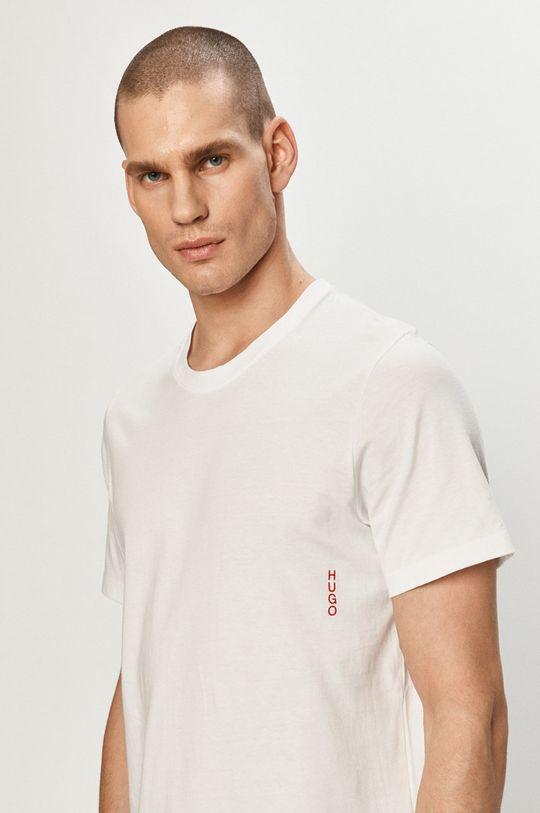 biały Hugo - T-shirt (2-pack) Męski