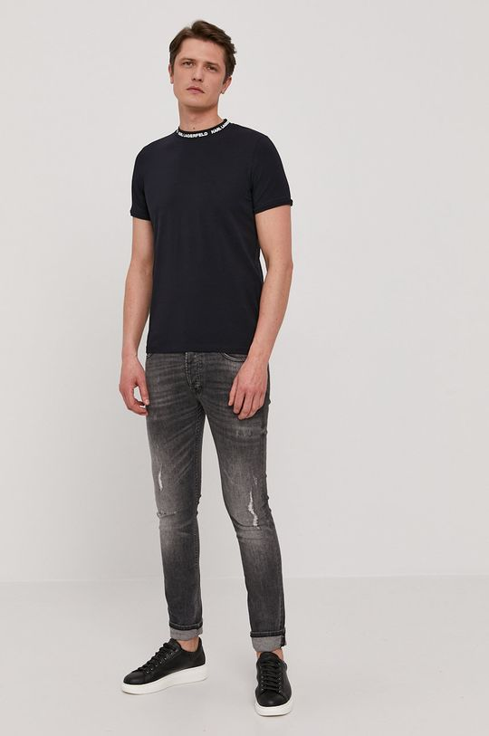 Karl Lagerfeld - Tričko tmavomodrá